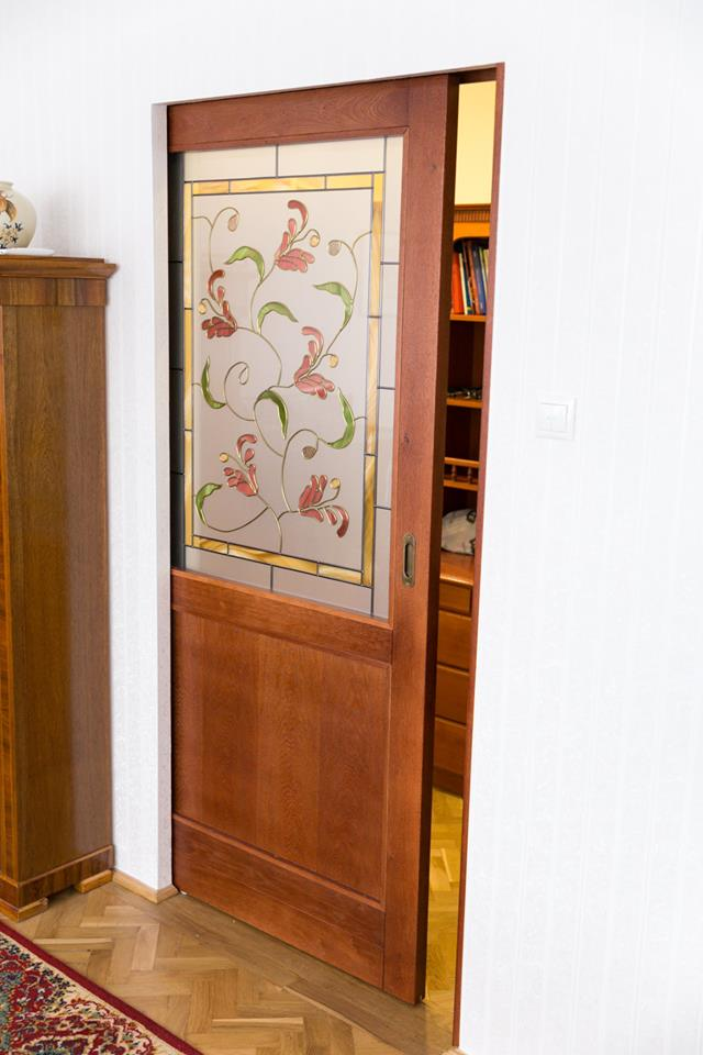 Ektra Design klasszikus üvegbetétes ajtó